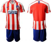 Wholesale Cheap Atletico Madrid Blank Home Soccer Club Jersey