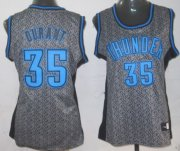 Wholesale Cheap Oklahoma City Thunder #35 Kevin Durant Gray Static Fashion Womens Jersey