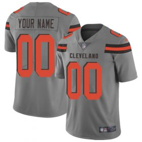 Wholesale Cheap Nike Cleveland Browns Customized Gray Men\'s Stitched NFL Limited Inverted Legend Jersey