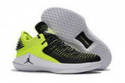 Wholesale Cheap Air Jordan 32 XXXI Low Shoes Green/Black-White