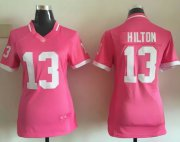 Wholesale Cheap Nike Colts #13 T.Y. Hilton Pink Women's Stitched NFL Elite Bubble Gum Jersey