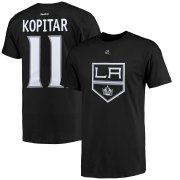 Wholesale Cheap Los Angeles Kings #11 Anze Kopitar Reebok Name and Number Player T-Shirt Black