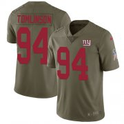 Wholesale Cheap Nike Giants #94 Dalvin Tomlinson Olive Youth Stitched NFL Limited 2017 Salute to Service Jersey