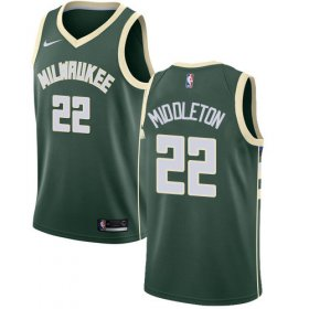 Cheap Youth Milwaukee Bucks #22 Khris Middleton Green Basketball Swingman Icon Edition Jersey