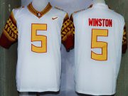 Wholesale Cheap Florida State Seminoles #5 Jameis Winston 2014 White Limited Jersey