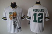 Wholesale Cheap Nike Packers #12 Aaron Rodgers White Men's Stitched NFL Helmet Tri-Blend Limited Jersey