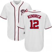 Wholesale Cheap Nationals #12 Howie Kendrick White Cool Base Stitched MLB Jersey