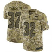 Wholesale Cheap Nike Seahawks #32 Chris Carson Camo Youth Stitched NFL Limited 2018 Salute to Service Jersey