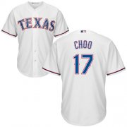 Wholesale Cheap Rangers #17 Shin-Soo Choo White Cool Base Stitched Youth MLB Jersey