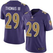 Wholesale Cheap Nike Ravens #29 Earl Thomas III Purple Men's Stitched NFL Limited Rush Jersey