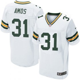 Wholesale Cheap Nike Packers #31 Adrian Amos White Men\'s Stitched NFL Elite Jersey