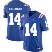 Wholesale Cheap Florida Gators 14 Chris Williamson Blue Throwback College Football Jersey