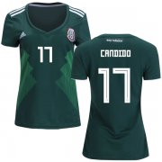 Wholesale Cheap Women's Mexico #17 Candido Home Soccer Country Jersey