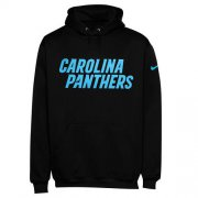 Wholesale Cheap Men's Carolina Panthers Nike Black KO Wordmark Performance Hoodie