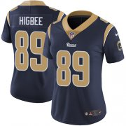 Wholesale Cheap Nike Rams #89 Tyler Higbee Navy Blue Team Color Women's Stitched NFL Vapor Untouchable Limited Jersey