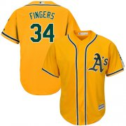 Wholesale Cheap Athletics #34 Rollie Fingers Gold Cool Base Stitched Youth MLB Jersey