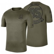 Wholesale Cheap Indianapolis Colts #85 Eric Ebron Olive 2019 Salute To Service Sideline NFL T-Shirt