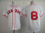 Wholesale Cheap Red Sox #8 Carl Yastrzemski White 1936 Turn Back The Clock Stitched MLB Jersey