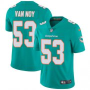 Wholesale Cheap Nike Dolphins #53 Kyle Van Noy Aqua Green Team Color Youth Stitched NFL Vapor Untouchable Limited Jersey