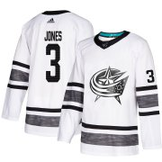 Wholesale Cheap Adidas Blue Jackets #3 Seth Jones White Authentic 2019 All-Star Stitched Youth NHL Jersey