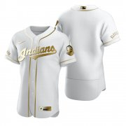 Wholesale Cheap Cleveland Indians Blank White Nike Men's Authentic Golden Edition MLB Jersey