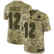 Wholesale Cheap Nike Dolphins #12 Bob Griese Camo Men's Stitched NFL Limited 2018 Salute To Service Jersey