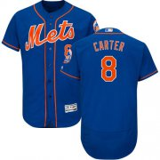 Wholesale Cheap Mets #8 Gary Carter Blue Flexbase Authentic Collection Stitched MLB Jersey