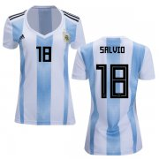 Wholesale Cheap Women's Argentina #18 Salvio Home Soccer Country Jersey