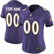 Wholesale Cheap Nike Baltimore Ravens Customized Purple Team Color Stitched Vapor Untouchable Limited Women's NFL Jersey