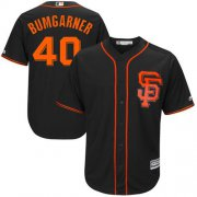 Wholesale Cheap Giants #40 Madison Bumgarner Black Alternate New Cool Base Stitched MLB Jersey