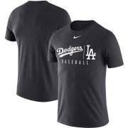 Wholesale Cheap Los Angeles Dodgers Nike MLB Practice T-Shirt Anthracite