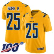Wholesale Cheap Nike Chargers #25 Chris Harris Jr Gold Youth Stitched NFL Limited Inverted Legend 100th Season Jersey