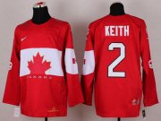 Wholesale Cheap Olympic 2014 CA. #2 Duncan Keith Red Stitched NHL Jersey