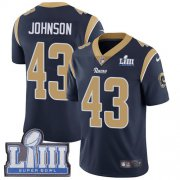 Wholesale Cheap Nike Rams #43 John Johnson Navy Blue Team Color Super Bowl LIII Bound Men's Stitched NFL Vapor Untouchable Limited Jersey