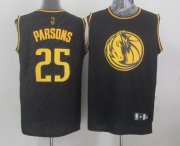 Wholesale Cheap Dallas Mavericks #25 Chandler Parsons Revolution 30 Swingman 2014 Black With Gold Jersey
