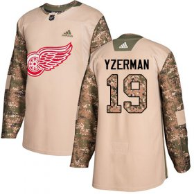 Wholesale Cheap Adidas Red Wings #19 Steve Yzerman Camo Authentic 2017 Veterans Day Stitched Youth NHL Jersey