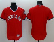 Wholesale Cheap Indians Blank Red Flexbase Authentic Collection 1978 Turn Back The Clock Stitched MLB Jersey