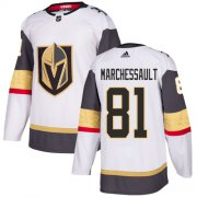 Wholesale Cheap Adidas Golden Knights #81 Jonathan Marchessault White Road Authentic Stitched Youth NHL Jersey