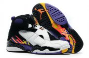 Wholesale Cheap Womens Air Jordan 8 Three Peat White/Black-Blue-red