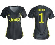 Wholesale Cheap Women's Juventus #1 Buffon Third Soccer Club Jersey