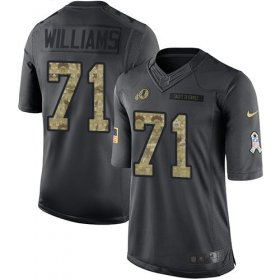 Wholesale Cheap Nike Redskins #71 Trent Williams Black Men\'s Stitched NFL Limited 2016 Salute to Service Jersey