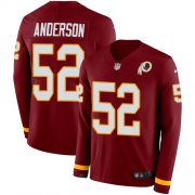 Wholesale Cheap Nike Redskins #52 Ryan Anderson Burgundy Red Team Color Men's Stitched NFL Limited Therma Long Sleeve Jersey