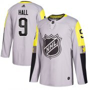 Wholesale Cheap Adidas Devils #9 Taylor Hall Gray 2018 All-Star Metro Division Authentic Stitched Youth NHL Jersey