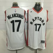 Wholesale Cheap Men's Toronto Raptors #17 Jonas Valanciunas White New NBA Rev 30 Swingman Jersey