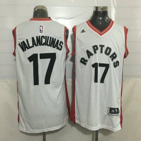 Wholesale Cheap Men\'s Toronto Raptors #17 Jonas Valanciunas White New NBA Rev 30 Swingman Jersey