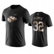 Wholesale Cheap Chiefs #32 Tyrann Mathieu Black NFL Black Golden 100th Season T-Shirts