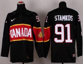 Wholesale Cheap Olympic 2014 CA. #91 Steven Stamkos Black Stitched NHL Jersey