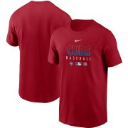 Wholesale Cheap Men's Chicago Cubs Nike Red Authentic Collection Team Performance T-Shirt
