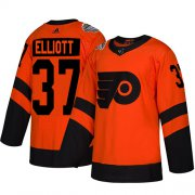 Wholesale Cheap Adidas Flyers #37 Brian Elliott Orange Authentic 2019 Stadium Series Women's Stitched NHL Jersey