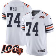 Wholesale Cheap Nike Bears #74 Germain Ifedi White Alternate Youth Stitched NFL Vapor Untouchable Limited 100th Season Jersey